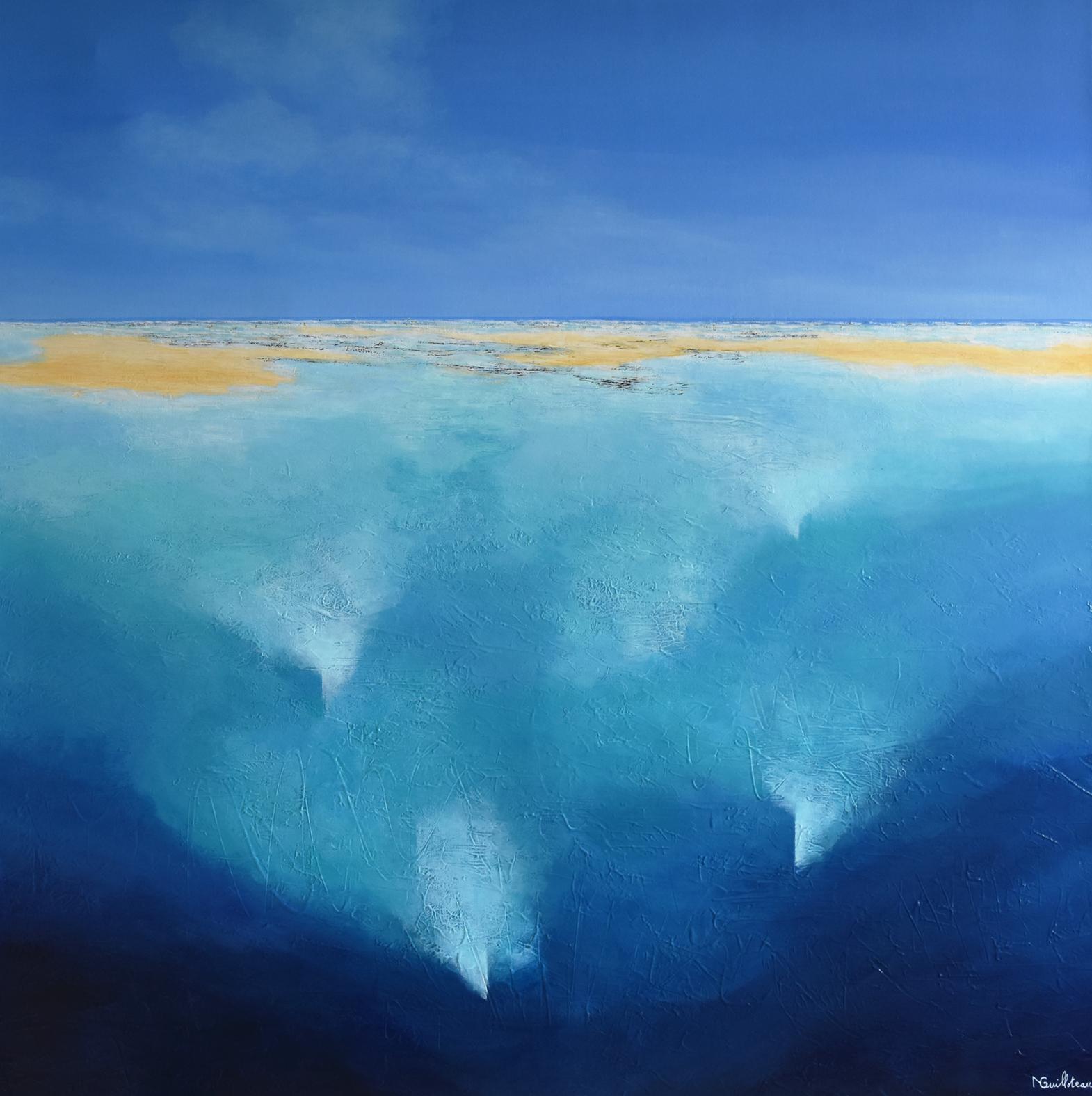 Bleu Ocean  100x100